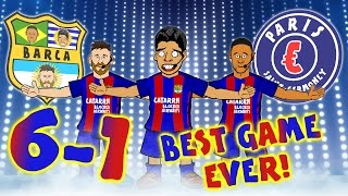 vuclip BARCA 6-1 PSG! THE BEST COMEBACK EVER! Barcelona complete the best comeback in the Champions League!