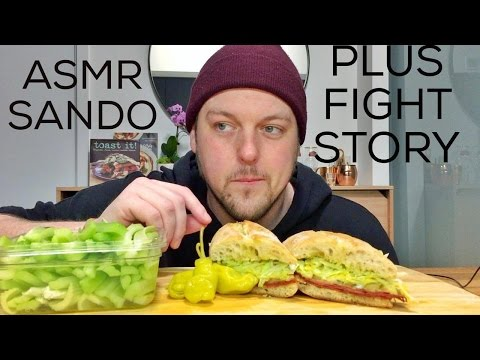 ASMR HOOD SANDWICH + FIGHT STORY TIME