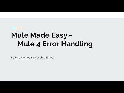 Mule 4 Error Handling