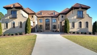 Must See 10000 SF Mansion Waxhaw, NC Video Tour