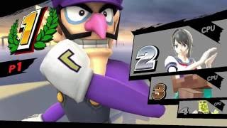 Super Smash Bros for Wii U: Waluigi vs Shrek vs Yandere-Chan vs Steve