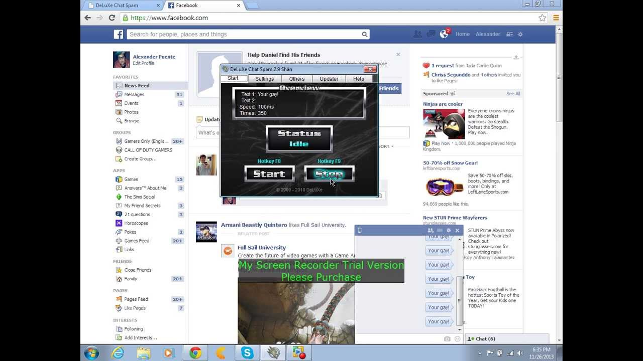 Deluxe chat spam DOWNLOAD LINK - YouTube
