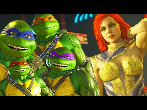 INJUSTICE 2 - NINJA TURTLES vs POISON IVY Intro DIALOGUES