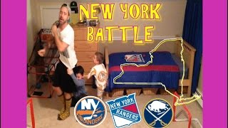 KNEE HOCKEY - OUR BEST GOAL EVER??? - FREE FOR ALL NEW YORK BATTLE