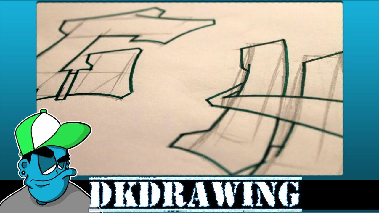Graffiti Tutorial Draw Letter H In Graffiti Step By Step