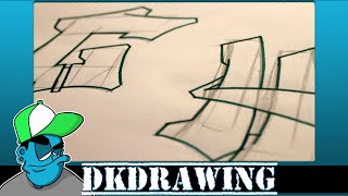 Graffiti Tutorial for beginners - How to draw cool letters G & H