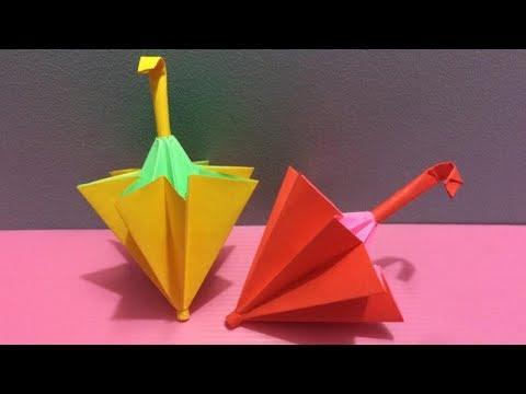 How to Make Umbrella with Color Paper | DIY Paper Umbrellas Making