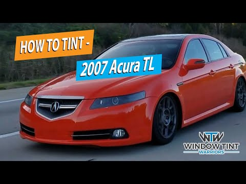 How To Professionally Tint A Full Car - 2007 Acura TL