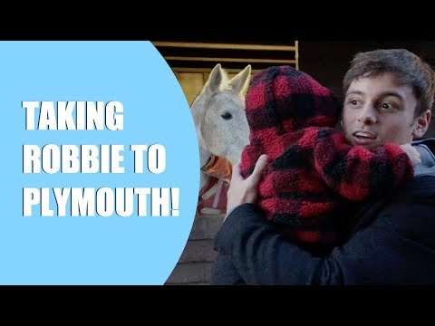 Taking Robbie to Plymouth! I Tom Daley