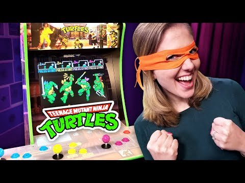 TMNT Arcade: Unboxing, Building, Playing The Arcade1up Game Station