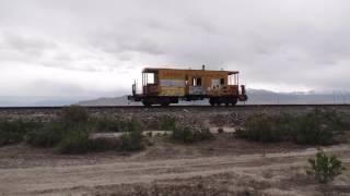 Old Union Pacific Caboose in Utah Desert