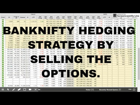 BANKNIFTY HEDGING STRATEGY BY SELLING THE  CALL AND PUT OPTIONS .
