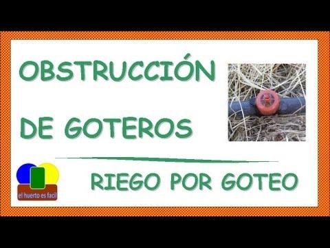 Obstruccion de goteros riego por goteo youtube - Manguera para riego por goteo ...