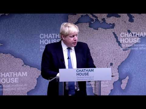 Boris Johnson on UK Foreign Policy in the Era of Brexit