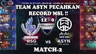 Team RSG Tak di Beri Kill !! ASYN vs RSG MSL: Mobile Legends Season 1 - Week 2 Match 2