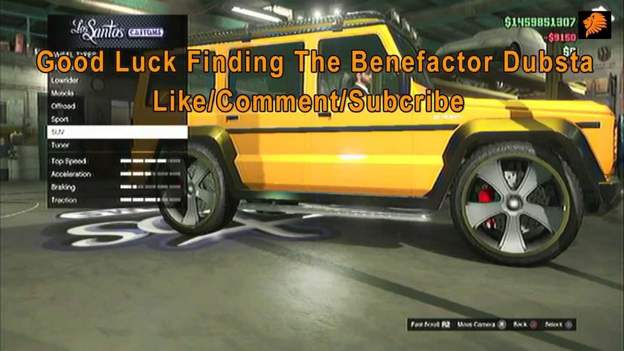 gta online benefactor dubsta location youtube