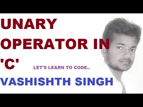 unary operator in C language in hindi part 1