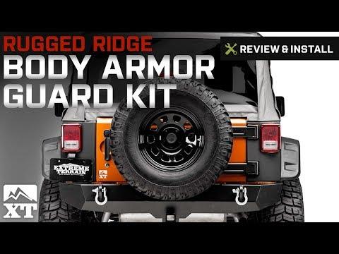 Jeep Wrangler Rugged Ridge Body Armor Guard Kit, 5 Pieces, Black (2007-2017 JK) Review & Install