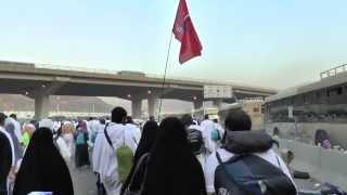 Walking from Muzdalifah Back to Mina