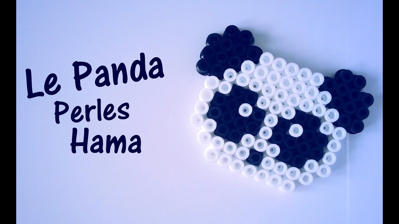comment faire un panda avec des perles hama youtube. Black Bedroom Furniture Sets. Home Design Ideas