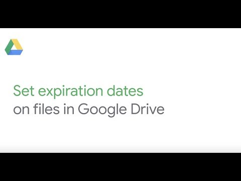 Set expiration dates on files in Google Drive