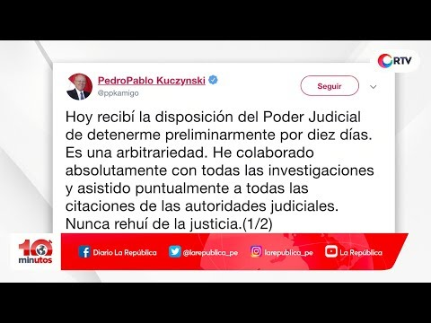 Expresidente Pedro Pablo Kuczynski llegó a Medicina Legal - 10 minutos Edición Tarde