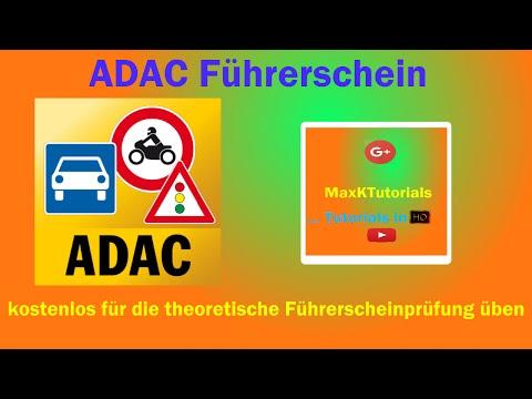 ADAC Führerschein - kostenlos für die theoretische Führerscheinprüfung üben [HD] | MaxKTutorials