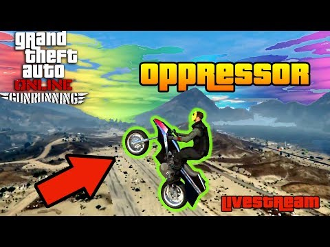 GTA 5 GUNRUNNING - CUSTOMIZING the PEGASSI OPPRESSOR and Selling Supply!! (Bunker Grind Livestream)