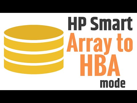 How to turn HP Smart array raid controller to HBA - Mode - YouTube