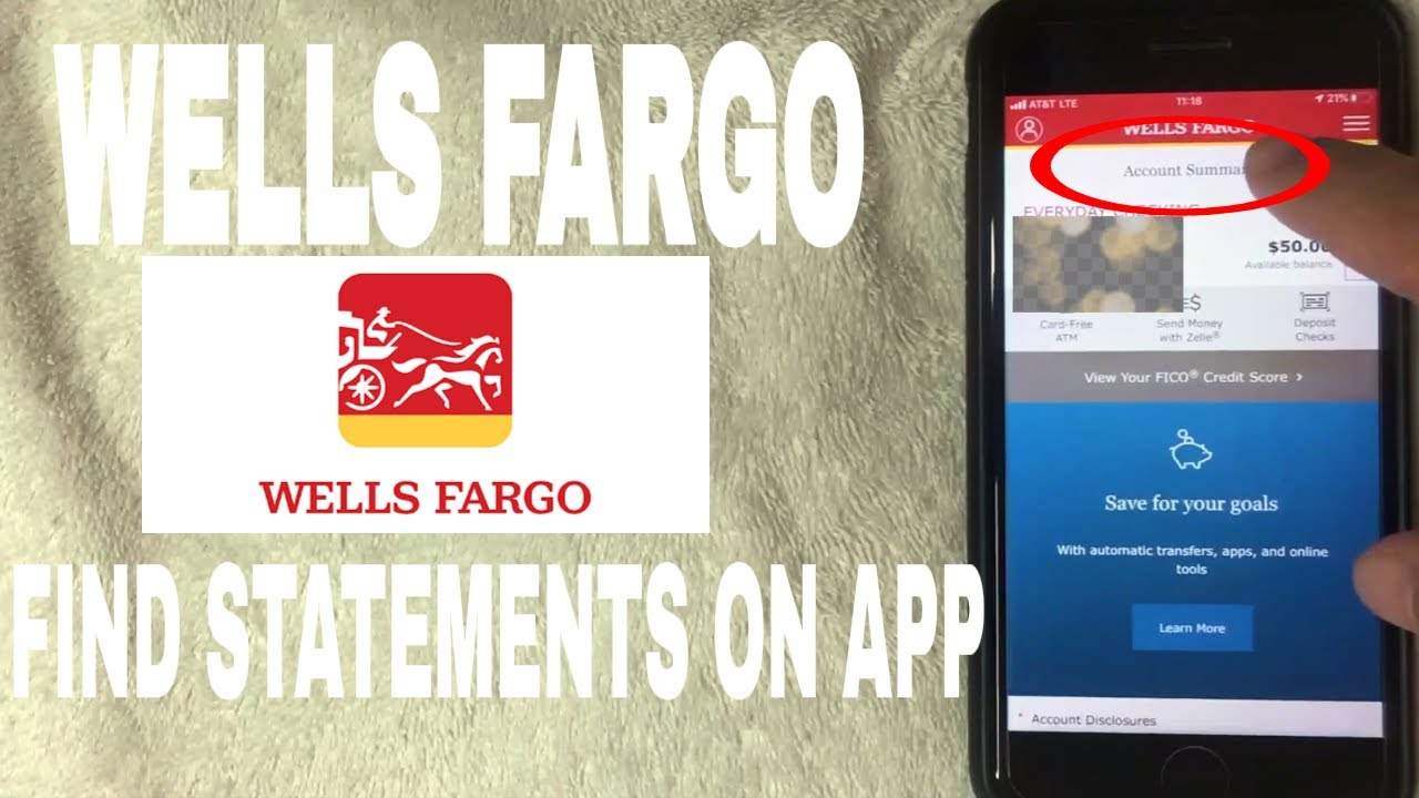 how to find bank statements on wells fargo app