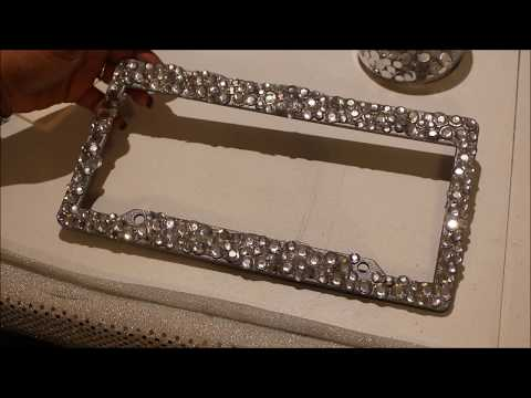 Last Minute Gift Idea ~Blinged Out License Plate Frame~