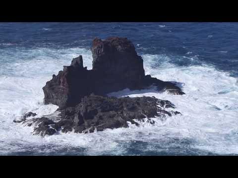 La Palma El Guincho Island in Heavy Swell