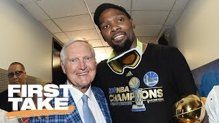 Jerry West Leaves Warriors For Clippers | First Take | June 15, 2017