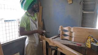 Past And Present Woodwork Spoke-shaving Bed Leg Part One