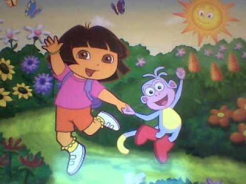 "Dora the Explorer Song "" Good Morning Buenos Dias "" piano tutorial with lyrics"