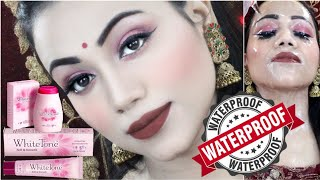 Created House Wife Look With White Tone Powder & Cream || Best Waterproof Easy Makeup Tutorial
