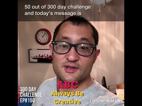 300 Day Challenge Ep#150 #creativity #abc #alwaysbecreative #expressyourself