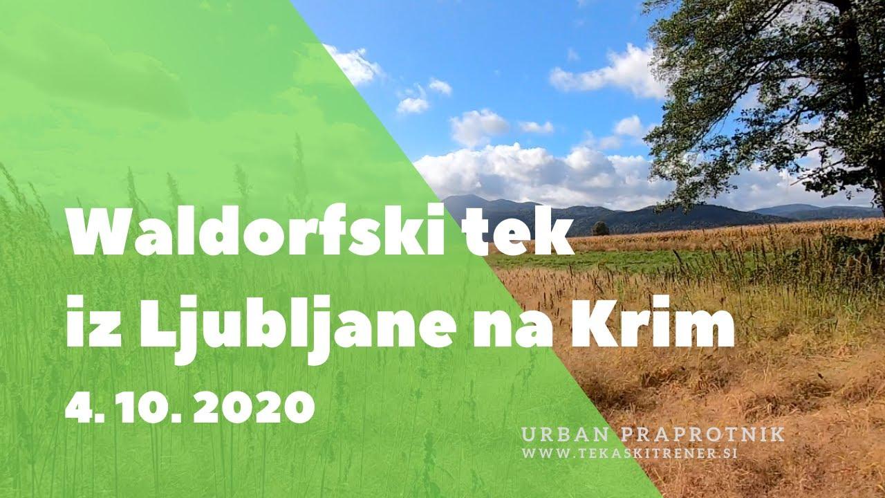 Tekaški dan, Ljubljana-Krim, 4/10/20