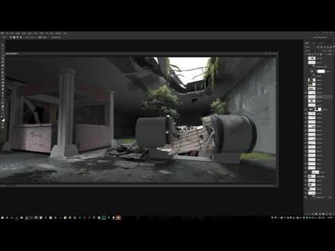 Maciej Kuciara creates video game fan art live - August 11, 2016.