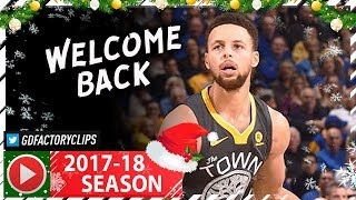 Stephen Curry RETURNS, Full Highlights vs Grizzlies (2017.12.30) - 38 Pts in 23 Minutes!