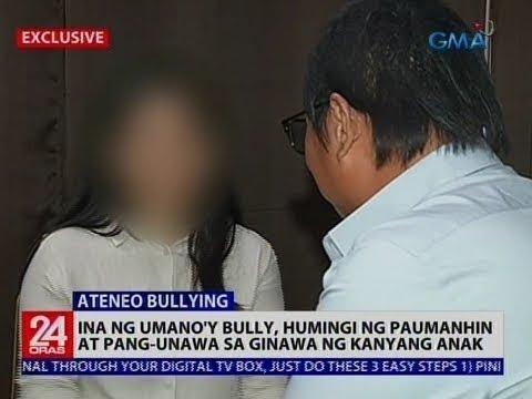 24 Oras: Ina ng umano'y bully, humingi ng paumanhin at pang-unawa sa ginawa ng kanyang anak