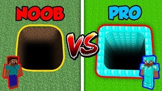 Minecraft NOOB vs. PRO: SECRET HOLE in Minecraft!