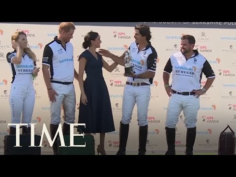Meghan Markle Shared A Little Kiss With Prince Harry At A Polo Match | TIME