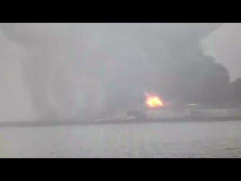 Iranian Oil Tanker Burns For Third Day