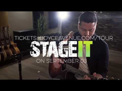 Live Stream Acoustic Performance & Hang with Boyce Avenue on StageIt Sept 3rd!