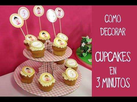 C mo decorar cupcakes f cil y r pido youtube for Como decorar una torta facil y rapido