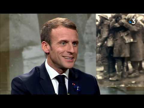 14-18 : Emmanuel Macron en interview sur France 3