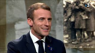 14-18 : Emmanuel Macron en interview sur France 3