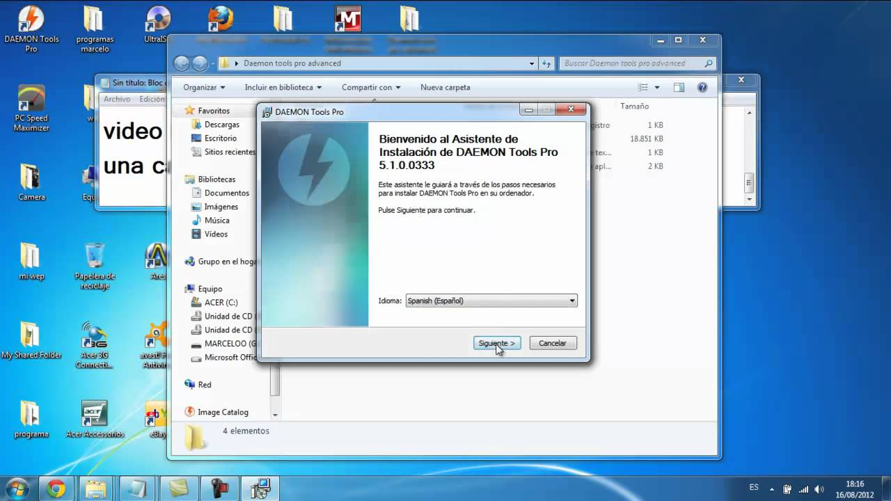 como descargar daemon tools pro advanced 5 1 serial crack youtube. Black Bedroom Furniture Sets. Home Design Ideas