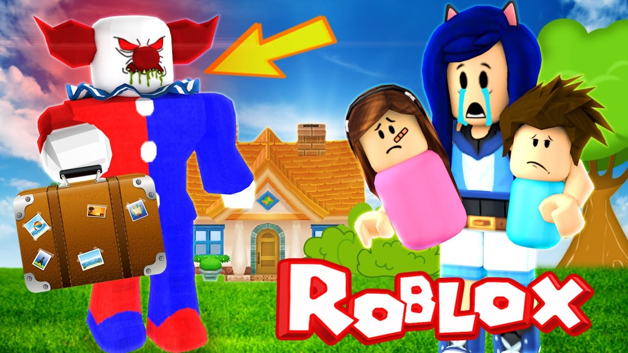 Itsfunneh Roblox Family Playlist A Clown Creepy Clown Moves Into Our House In Roblox Youtube